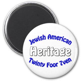 Jewish American Heritage 2 Inch Round Magnet