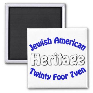 Jewish American Heritage 2 Inch Square Magnet