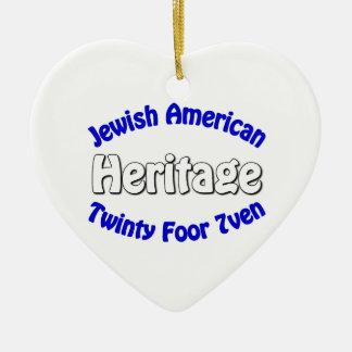 Jewish American Heritage Christmas Tree Ornament
