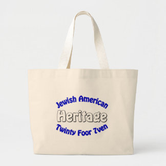 Jewish American Heritage Large Tote Bag