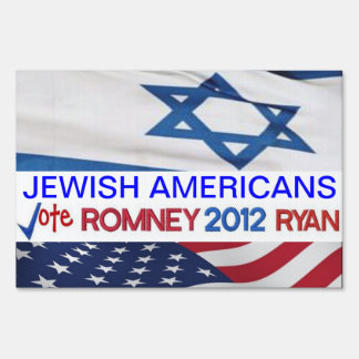 Jewish Americans for Romney Ryan 2012 Sign