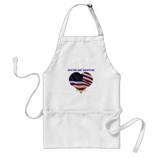 Jewish AND American Adult Apron