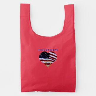 Jewish AND American Reusable Bag