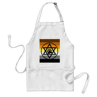 Jewish Bear Pride Flag Adult Apron