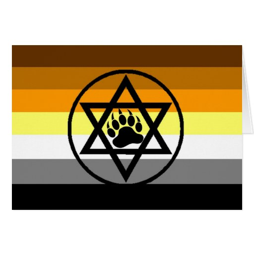 Jewish Bear Pride Flag Card