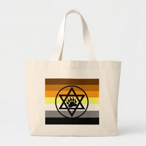 Jewish Bear Pride Flag Jumbo Tote Bag