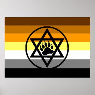 Jewish Bear Pride Flag Poster