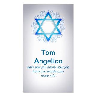 Jewish business card standard business cards
