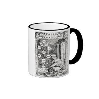 Jewish cabbalist holding a sephiroth, copy of an i ringer coffee mug