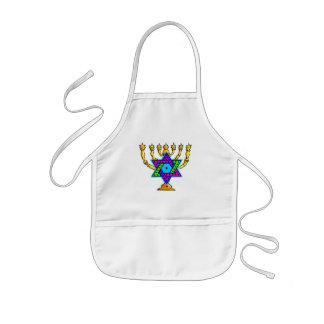 Jewish Candlesticks Kids' Apron