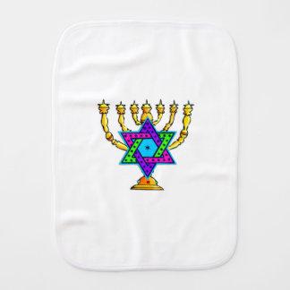 Jewish Candlesticks Baby Burp Cloth