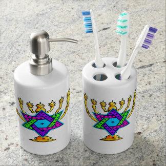 Jewish Candlesticks Bath Accessory Sets
