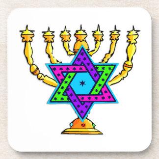 Jewish Candlesticks Beverage Coaster