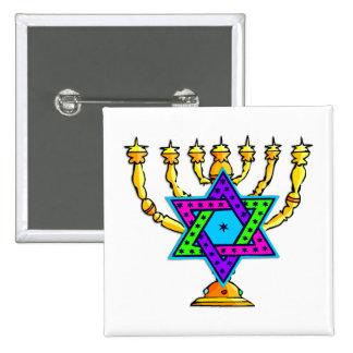 Jewish Candlesticks Buttons