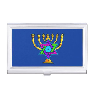 Jewish Candlesticks Case For Business Cards