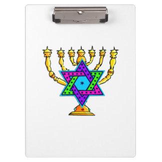 Jewish Candlesticks Clipboards