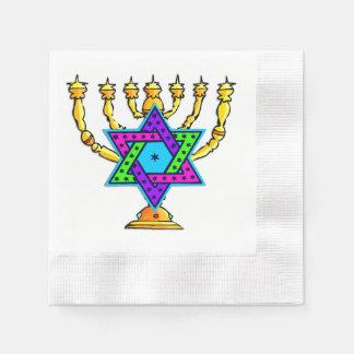 Jewish Candlesticks Coined Cocktail Napkin