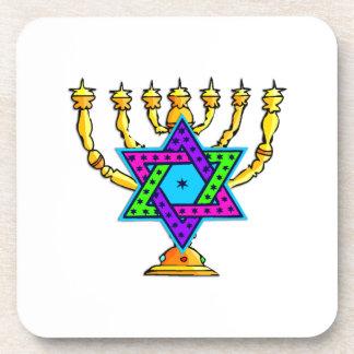 Jewish Candlesticks Drink Coaster