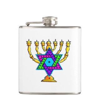 Jewish Candlesticks Flask