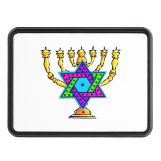 Jewish Candlesticks Hitch Covers