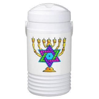 Jewish Candlesticks Igloo Beverage Dispenser