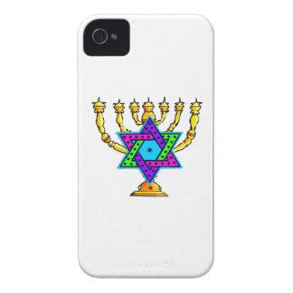 Jewish Candlesticks iPhone 4 Case-Mate Cases