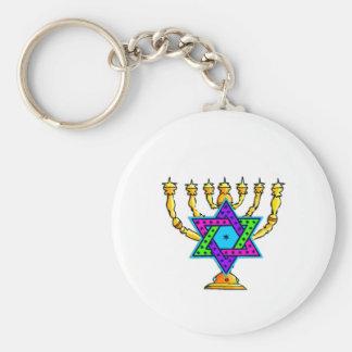 Jewish Candlesticks Keychains
