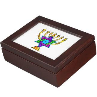 Jewish Candlesticks Memory Box