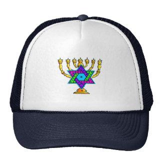 Jewish Candlesticks Mesh Hat