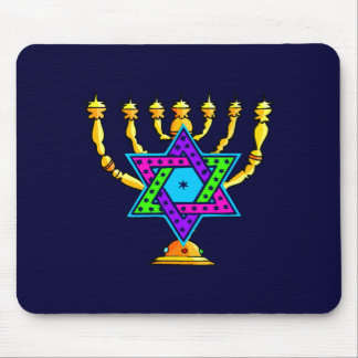 Jewish Candlesticks Mouse Pads
