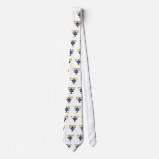 Jewish Candlesticks Neck Tie
