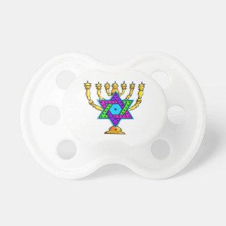 Jewish Candlesticks Pacifier