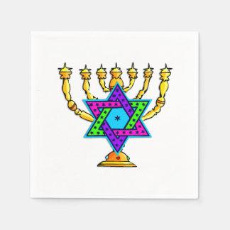 Jewish Candlesticks Paper Napkin