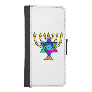 Jewish Candlesticks Phone Wallet Cases