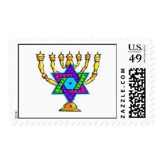 Jewish Candlesticks Postage