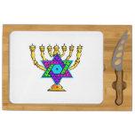 Jewish Candlesticks Rectangular Cheese Board