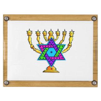 Jewish Candlesticks Rectangular Cheeseboard