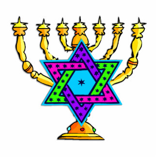 Jewish Candlesticks Statuette
