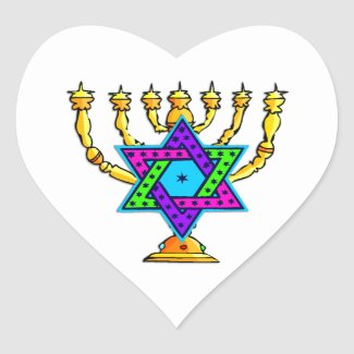 Jewish Candlesticks Stickers