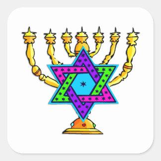 Jewish Candlesticks Sticker