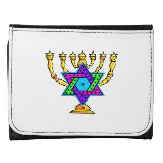 Jewish Candlesticks Trifold Wallet