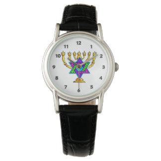 Jewish Candlesticks Wrist Watch