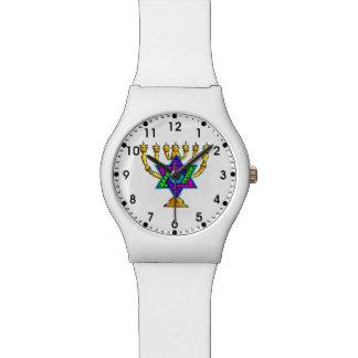 Jewish Candlesticks Wristwatch