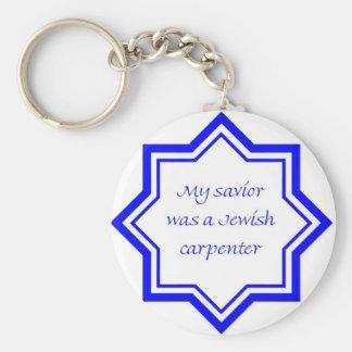 Jewish Carpenter Basic Round Button Keychain
