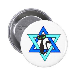 Jewish Cat Stars 2 Inch Round Button