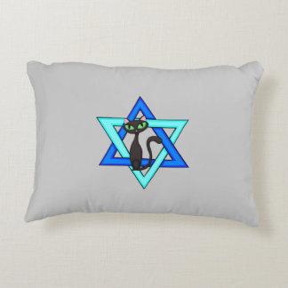 Jewish Cat Stars Accent Pillow