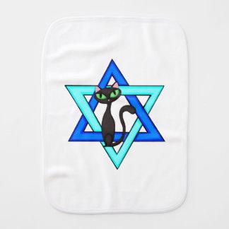 Jewish Cat Stars Baby Burp Cloth