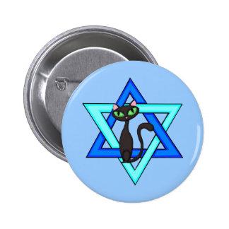 Jewish Cat Stars Buttons