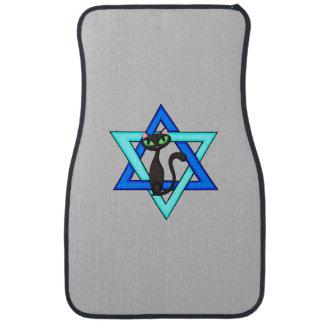 Jewish Cat Stars Car Mat