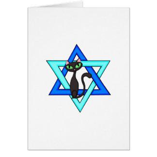 Jewish Cat Stars Card